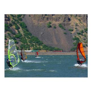 Windsurfers at Hood River Postcard