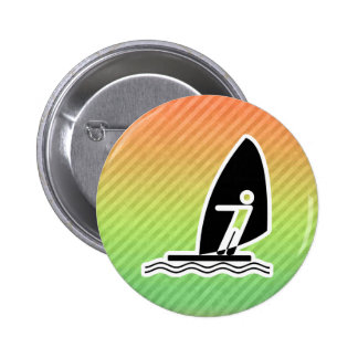 Windsurfing 6 Cm Round Badge