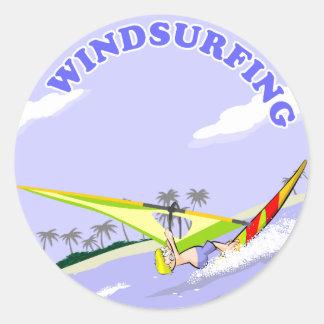 Windsurfing Cartoon Sticker - 2