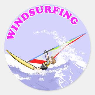 Windsurfing Cartoon Sticker - 3