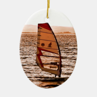 WINDSURFING CERAMIC ORNAMENT