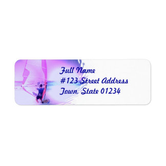 Windsurfing Color Return Address Label