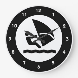 Windsurfing Design Wall Clock