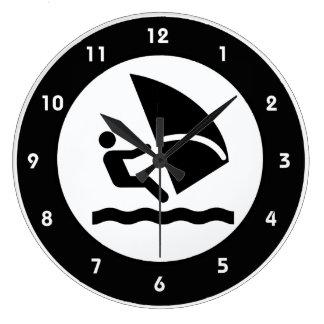 Windsurfing Design Wall Clock