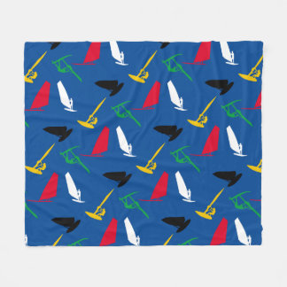 Windsurfing Fleece Blanket