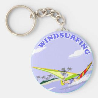 Windsurfing illustration key ring