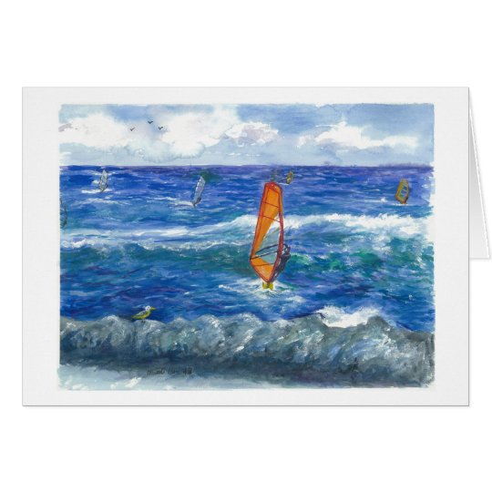 Windsurfing in Hawaii Card