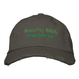 Windsurfing Maniac @Power Lines Hat Baseball Cap