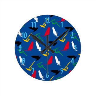 Windsurfing Round Clock