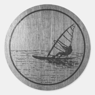 Windsurfing Round Sticker