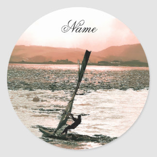 WINDSURFING ROUND STICKER