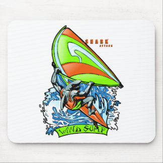Windsurfing Shark Attack Mouse Pad