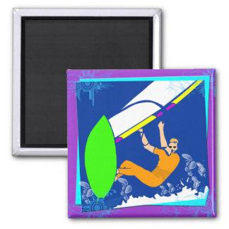 Windsurfing Square Magnet
