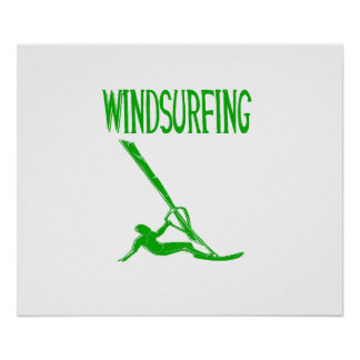 windsurfing v3 green text sport copy.png poster
