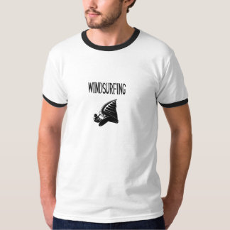windsurfing v5 black text sport windsurf windsurfe T-Shirt