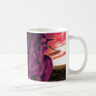 Windswept Amethyst Unicorn Coffee Mug