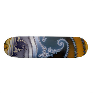 Windswept Fractal Art Custom Skateboard