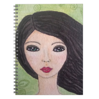 Windswept girl notebook