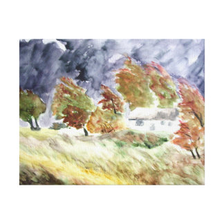 Windswept Landscape From Original Watercolour Art Canvas Print