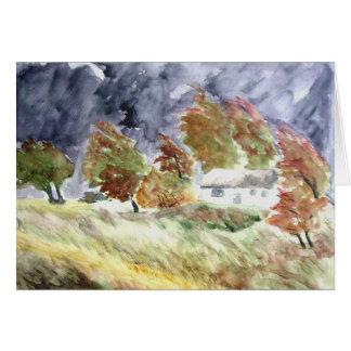 Windswept Landscape From Original Watercolour Art Card