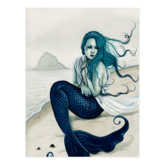 Windswept Mermaid Postcard