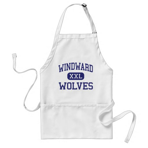 Windward - Wolves - High - Ferndale Washington Apron