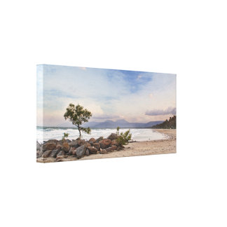 Windy 4mile beach v2 stretched canvas print