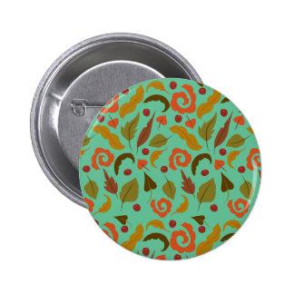 Windy Autumn Day Pinback Button