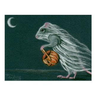 Windy Halloween Ghost Postcard