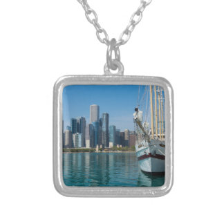 Windy Sailing Silver Plated Necklace