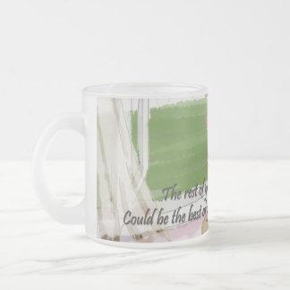 Windy Window Frosted Glass Mug