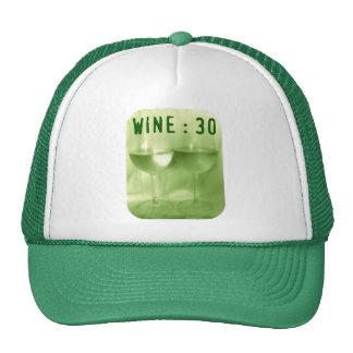 WINE 30 LIME PRINT MESH HATS