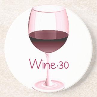 Wine:30 Red Wine Coaster