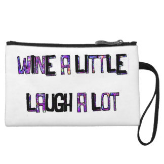 Wine a Little Laugh a lot Clutch