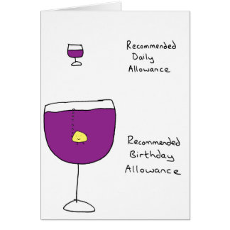 Wine Allowance Card