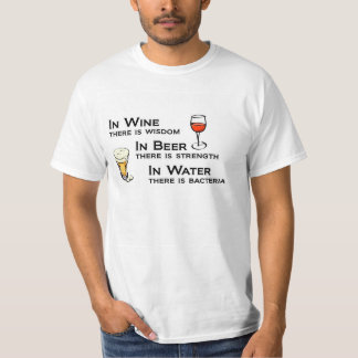 Wine and Beer Lovers t-shirt humor
