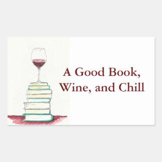 Wine and Books Bumper Sticker