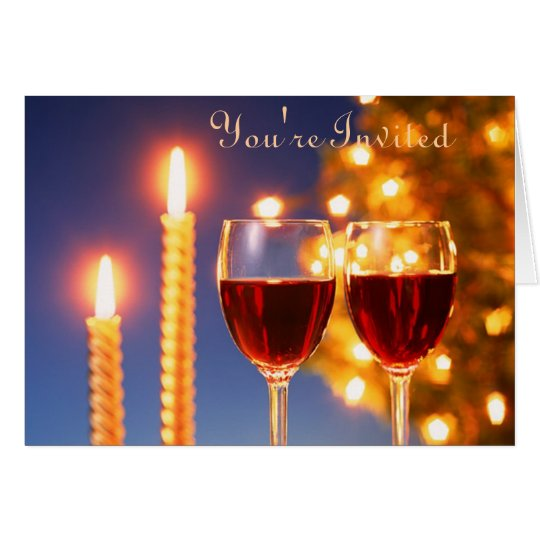 Wine and Candle Invitation