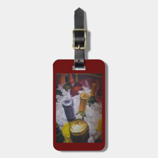 Wine and champagne on ice luggage tag