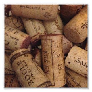 wine and champaign corks photo print