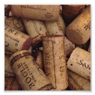 wine and champaign corks photographic print