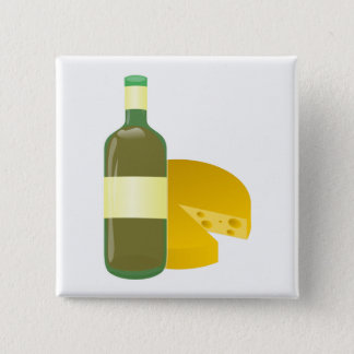 Wine and Cheese 15 Cm Square Badge