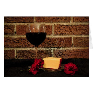 Wine and Cheese Birthday Card