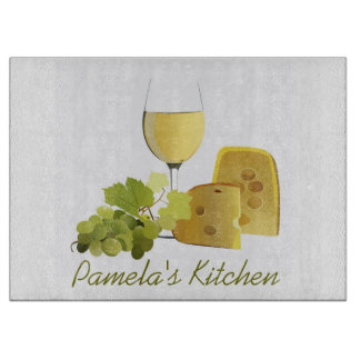 Wine and Cheese Design Cutting Board