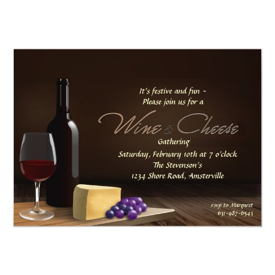 Wine and Cheese Invitation