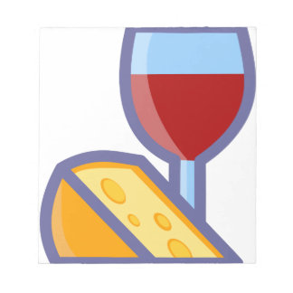 Wine and Cheese Notepad