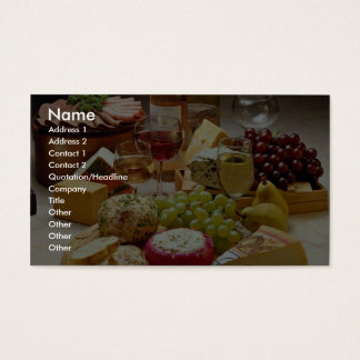 Wine and cheese party business card