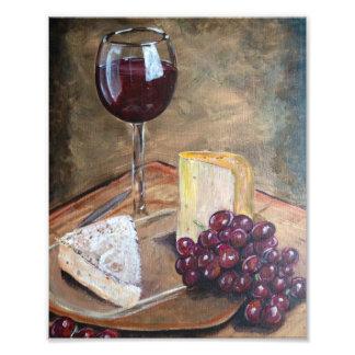 Wine and Cheese Print Photo Art