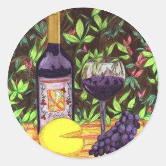 Wine and Cheese Sticker