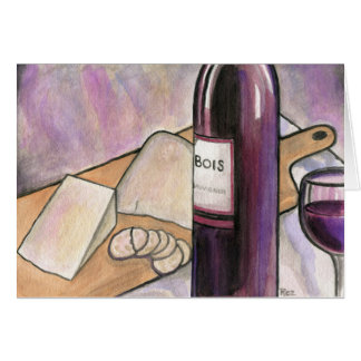 Wine and Cheese Tonight Card
